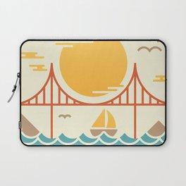 San Francisco Golden Gate Bridge Illustration Laptop Sleeve