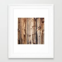 wood Framed Art Prints featuring Wood by Patterns and Textures