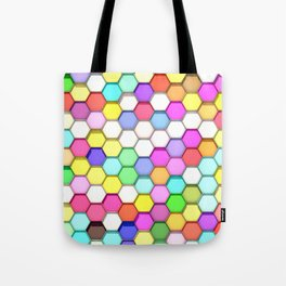Colored Hexa Pattern Tote Bag