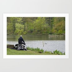 Rest relax and fish Art Print
