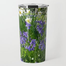 SPRING FLOWERS IN A COTTAGE GARDEN CORNWALL Travel Mug