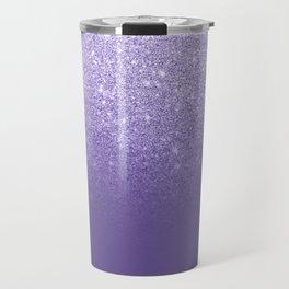 Modern ultra violet faux glitter ombre purple color block Travel Mug