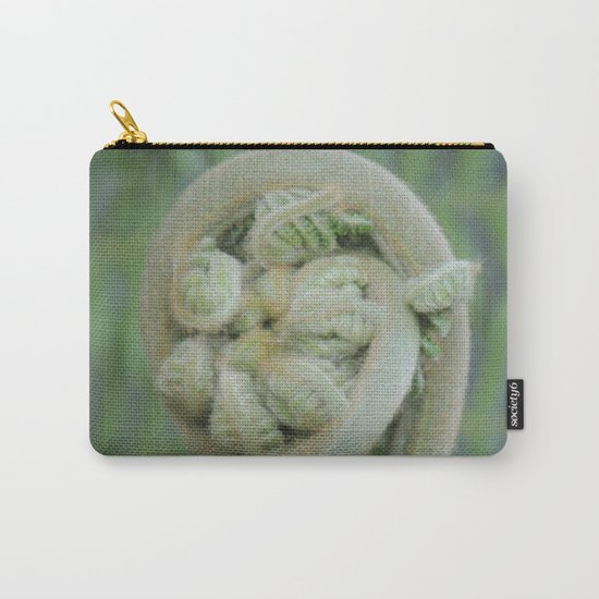 Furled Fern Soon to Unfurl Carry-All Pouch