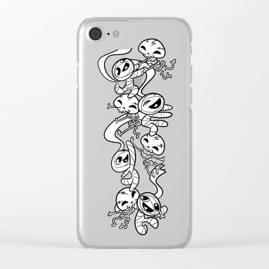 Mummy & Skeleton Clear iPhone Case