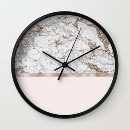 Gleaming rose gold blush Wall Clock