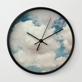 January Clouds Wall Clock