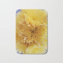 Yellow Flower Sunburst Bath Mat