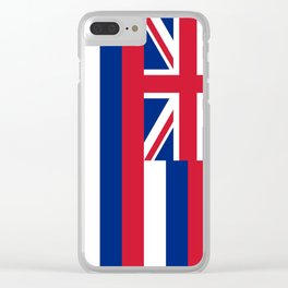 Hawaiian Flag, Official color & scale Clear iPhone Case
