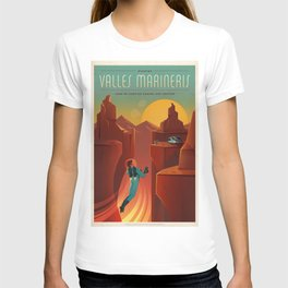 Vintage Adventure Travel Olympus Mons Awaits T-shirt