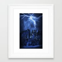 lightning Framed Art Prints featuring Lightning by Svetlana Sewell