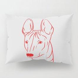 Xoloitzcuintli (Light Gray and Red) Pillow Sham