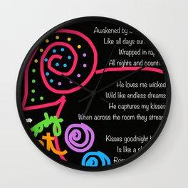 A Little Romance Wall Clock