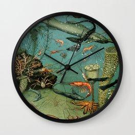 "Adolphe Millot ""Ocean"" Sea Creatures Nouveau Larousse 1905 Wall Clock"