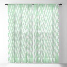 Geometric lines teal/lightpink Sheer Curtain