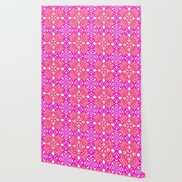 Tribal Tiles I (PINK) Geometric Wallpaper