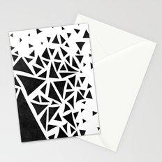 B&W geometric  pattern 01 Stationery Cards