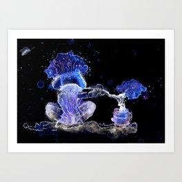 Mushroom Hookah Art Print