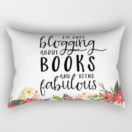 Blogging About Books Rectangular Pillow