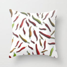 Chili peppers Throw Pillow