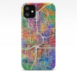 Atlanta Georgia City Map iPhone Case