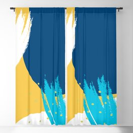 Bright colors modern abstract shapes design Blackout Curtain