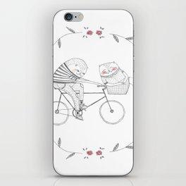 bicycle cat iPhone Skin