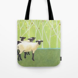 Sheep Crossing Tote Bag