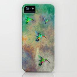 Secret Escape Hummingbird Design iPhone Case