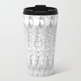 Feather Pattern | Grey and White Travel Mug