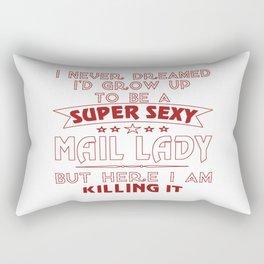 Super sexy mail lady Rectangular Pillow