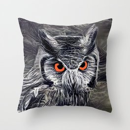 The Great Horned Owl Throw Pillow