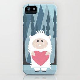 Little Yeti, Big Heart iPhone Case