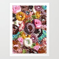 donuts Art Prints featuring Donuts by Tina Mooney