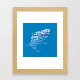 Shark in Different Languages Framed Art Print