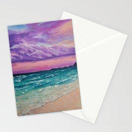 Sombre purple sky Stationery Cards