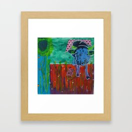 behind glas painting Framed Art Print