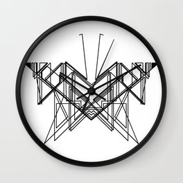 Butterfly without back Wall Clock