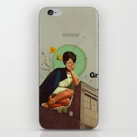 grey iPhone & iPod Skins featuring Grey by Frank Moth