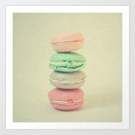 Four Macarons Art Print