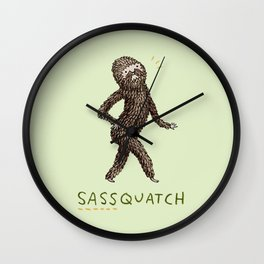 Sassquatch Wall Clock