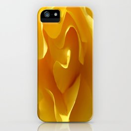 Yellow Rose Ruffles Abstract iPhone Case