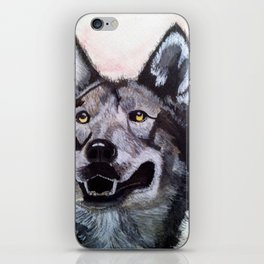 Wolf in Red iPhone Skin