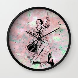 Mago's Janggu Chum  (Traditional Korean dancer with drum) Wall Clock