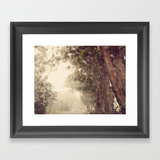 Rain on me Framed Art Print