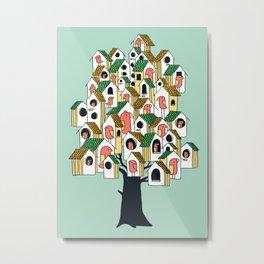 Bird houses Metal Print