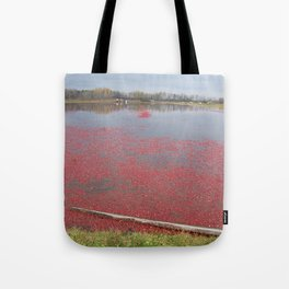 Cranberries Waiting To Be Rounded Up Tote Bag