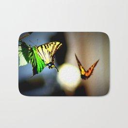 Butterfly dance Bath Mat