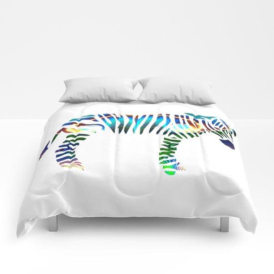 Rainbow Zebra Comforters
