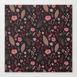 Floral seamless pattern Canvas Print