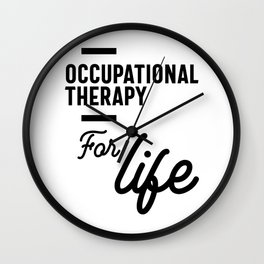 Occupational Therapy Work Job Title Gift Wall Clock